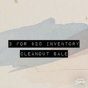 3 for $20 Sale!
